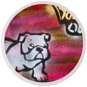 Dogged Out 1 Round Beach Towel