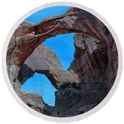 Double Arch - Arches National Park Round Beach Towel