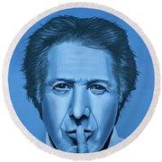 Dustin Hoffman Painting Round Beach Towel by Paul Meijering