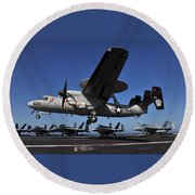 E2c Hawkeye Round Beach Towel