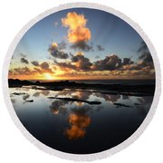 Earth Third Planet From The Sun Round Beach Towel