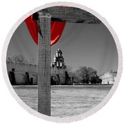 Mission San Juan Easter Cross Round Beach Towel