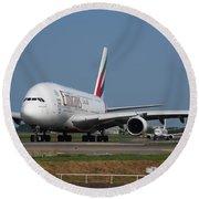 Emirates Airbus A380 Round Beach Towel