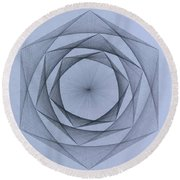 Energy Spiral Round Beach Towel