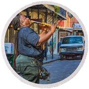 Feel It - Doreen's Jazz New Orleans 2 Round Beach Towel