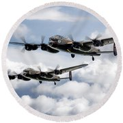 Flying Lancasters Round Beach Towel