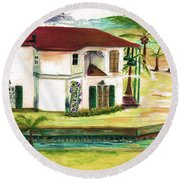 Fort Lauderdale Waterway Round Beach Towel