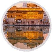 Golden Temple - Amritsar Round Beach Towel