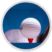 Golf Round Beach Towel by David and Carol Kelly