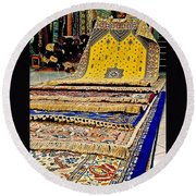 Gorgeous  Berber Rugs In Tangiers-morocco Round Beach Towel