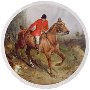 Hunting Scene Round Beach Towel