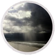 Hurricane Glimpse Round Beach Towel