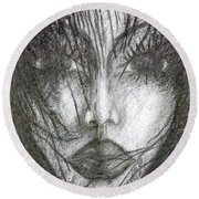 I Will Become With You Round Beach Towel