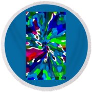 Iphone Cases Colorful Rich Bold Abstracts Cell Phone Covers Carole Spandau Cbs Designer Art 164  Round Beach Towel