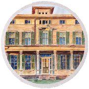 Italianate House Ny Round Beach Towel