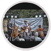 John Arthur Martinez Band Round Beach Towel