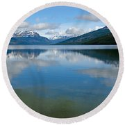 Lago Roca In Tierra Del Fuego National Park Round Beach Towel