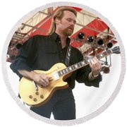 Lee Roy Parnell Round Beach Towel
