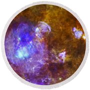 Life And Death In A Star-forming Cloud Round Beach Towel
