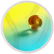 Lost Marble Round Beach Towel by Tom Druin