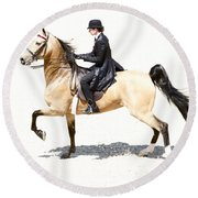 Lovely Gaited Buckskin  Round Beach Towel