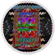 Magic Lamp Lights Up And Ask For 3 Wishes Chant 3 Times Jaag Jaag Kismat Round Beach Towel