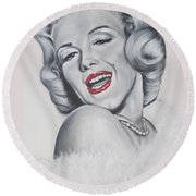 Marilyn Monroe Round Beach Towel