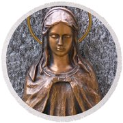 Mary Daughter Of Joachim Round Beach Towel
