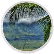 Maui Foot Hills Round Beach Towel
