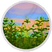 Meadow Magic Round Beach Towel
