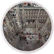 Milan From The Roof Round Beach Towel