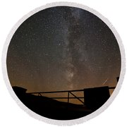Milky Way Behind The Gate Round Beach Towel