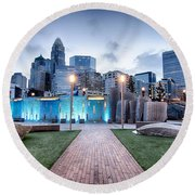 New Romare-bearden Park In Uptown Charlotte North Carolina Earl Round Beach Towel