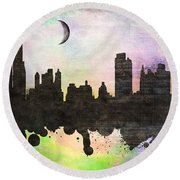 New York 6 Round Beach Towel