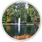 Norfolk Botanical Gardens 2 Round Beach Towel