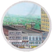 Portsmouth Ohio 1948 Dime Store Row 3rd To 4th Round Beach Towel