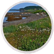 Rocky Harbour In Gros Morne Np-nl Round Beach Towel