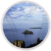 Russian Far East Round Beach Towel by Anonymous
