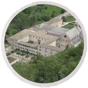 Senanque Abbey View Round Beach Towel