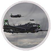Skyraiders - Va155 Round Beach Towel
