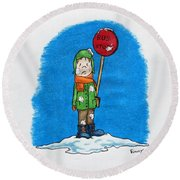 Snowballs Suck Round Beach Towel
