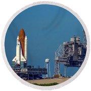 Space Shuttle Roll-around Round Beach Towel