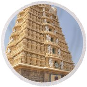 Sri Chamundeswari Temple Round Beach Towel