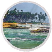 Sri Lanka Round Beach Towel