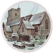 St Mary And All Saints Boxley Round Beach Towel