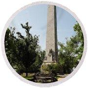 Tercentennial Jamestown Monument Round Beach Towel