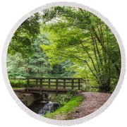 The Bridge Birches Valley Cannock Chase Round Beach Towel