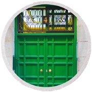 The Doors Of Madrid Spain Xii Round Beach Towel