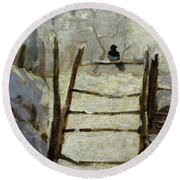The Magpie Round Beach Towel