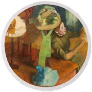 The Millinery Shop Round Beach Towel